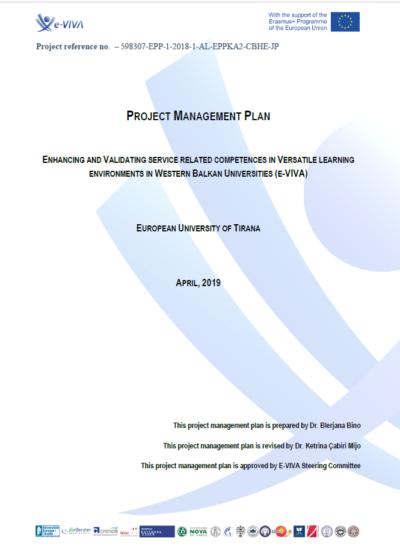Project Management Plan_E-Viva